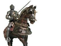 Cavaliere su a cavallo Fotografia Stock