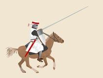 Cavaliere su un cavallo Immagine Stock