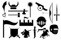 Cavaliere War Icons Set Fotografia Stock Libera da Diritti