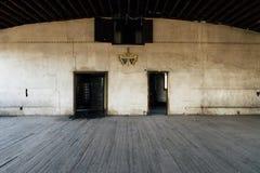 Cavalieri abbandonati della casetta di Pythias - ospedale abbandonato di Statts - Charleston, Virginia Occidentale immagini stock libere da diritti