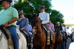 Cavalieri ad una processione 02 Immagine Stock Libera da Diritti