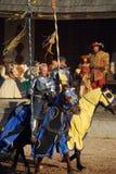 Cavalieri al festival di rinascita Fotografia Stock Libera da Diritti