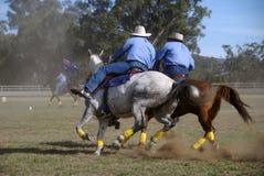 Cavalieri australiani Immagine Stock