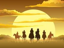 Cavalieri del cavallo Immagini Stock Libere da Diritti