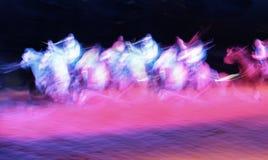 Cavalieri del fantasma Fotografia Stock