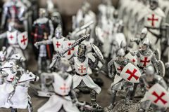 Cavalieri del giocattolo da vendere Fotografia Stock