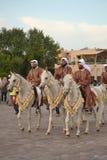 Cavalieri del Qatar Emiri Immagine Stock Libera da Diritti