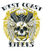 Cavalieri della costa ovest Fotografie Stock Libere da Diritti