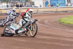 Cavalieri della gara motociclistica su pista Fotografie Stock