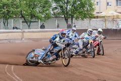 Cavalieri della gara motociclistica su pista Fotografia Stock Libera da Diritti