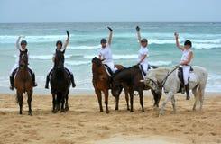 Cavalieri della spiaggia Immagini Stock Libere da Diritti