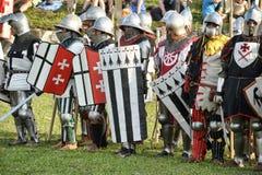 Cavalieri di battaglia Fotografia Stock Libera da Diritti
