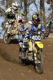 Cavalieri di motocross fotografie stock libere da diritti