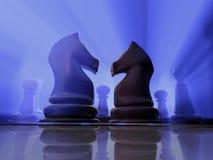 Cavalieri di scacchi Fotografia Stock