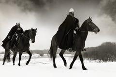 Cavalieri medioevali della st John (Hospitallers) Fotografie Stock Libere da Diritti