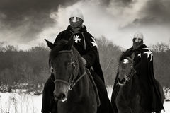 Cavalieri medioevali della st John (Hospitallers) Immagini Stock Libere da Diritti
