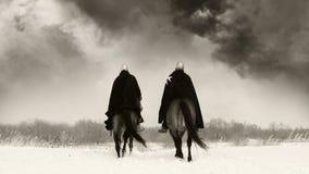 Cavalieri medioevali della st John (Hospitallers) Fotografia Stock Libera da Diritti