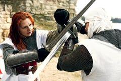 Cavalieri mistici antichi fotografia stock