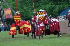 Cavalieri prima del duello fotografia stock