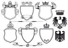 Cavalieri reali messi delle icone Immagine Stock Libera da Diritti