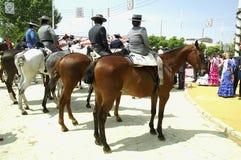 Cavalieri in Siviglia fotografia stock libera da diritti