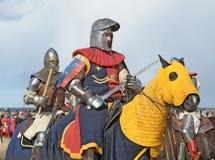 Cavalieri sui cavalli immagini stock libere da diritti