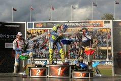 Cavalieri sul podio Immagini Stock