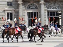 Cavaliers armés de cheval Photos stock