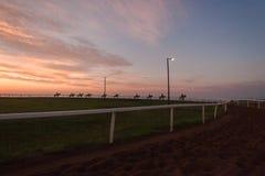 Cavaliers Dawn Training de course de chevaux Photo libre de droits