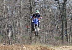 Cavaliers de moto Photos stock
