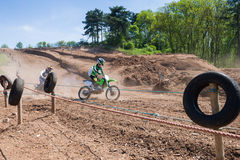 Cavaliers de motocross Photo libre de droits
