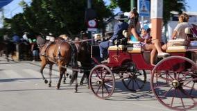 Cavaliers et chariots Image stock