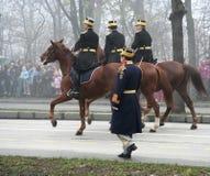Cavaliers militaires de défilé Image libre de droits
