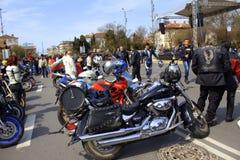 Cavaliers se réunissant, Varna Bulgarie Image libre de droits