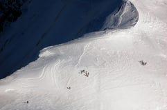 Cavaliers sur Mont Blanc Image libre de droits