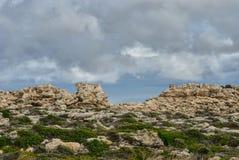 Cavalleria灯塔视图 巴利阿里群岛menorca西班牙 图库摄影