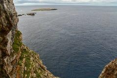 Cavalleria灯塔视图 巴利阿里群岛menorca西班牙 库存图片