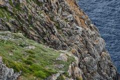 Cavalleria灯塔视图 巴利阿里群岛menorca西班牙 免版税图库摄影