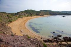 Cavalleria Beach at Menorca Royalty Free Stock Image
