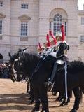 Cavalleria della famiglia alla parata delle protezioni di cavallo Fotografie Stock