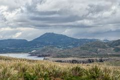 Cavalleria latarni morskiej widok wyspy menorca Spain Obrazy Royalty Free