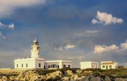 cavalleria Leuchtturm auf der Küste von Minorca Stockfotografie