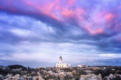 cavalleria Leuchtturm auf der Küste von Minorca Lizenzfreie Stockbilder