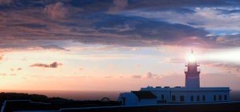 cavalleria Leuchtturm auf der Küste von Minorca Lizenzfreies Stockbild