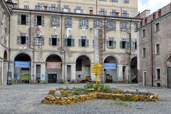 Cavallerizza and remains of the Royal Academ, Turin, Italy Stock Photography