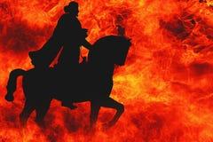 Cavallerizzo apocalittico Fotografia Stock Libera da Diritti