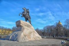 Cavallerizzo bronzeo Fotografia Stock Libera da Diritti