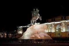 Cavallerizzo bronzeo in San Pietroburgo, Russia Immagine Stock Libera da Diritti