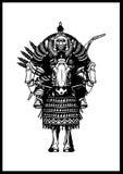 Cavallerizzo mongolo illustrazione di stock