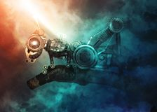Cavalletta di stile di Steampunk Immagine Stock Libera da Diritti